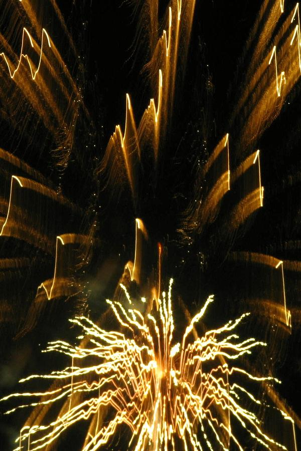 Fireworks Photograph - Music To My Eyes by Rhonda Barrett