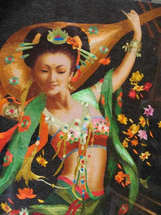 Handmade Silk Embroidery Tapestry - Textile - Music by Xiaohuan Sheng