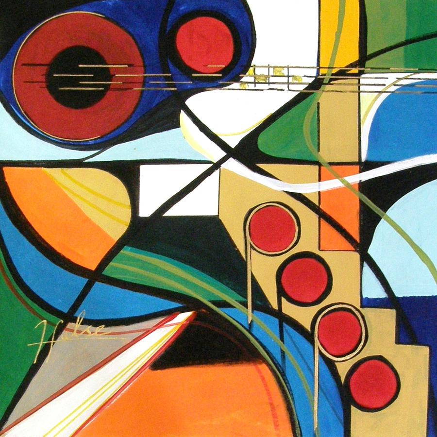 Music Painting - Musical Abstract by Gina Hulse