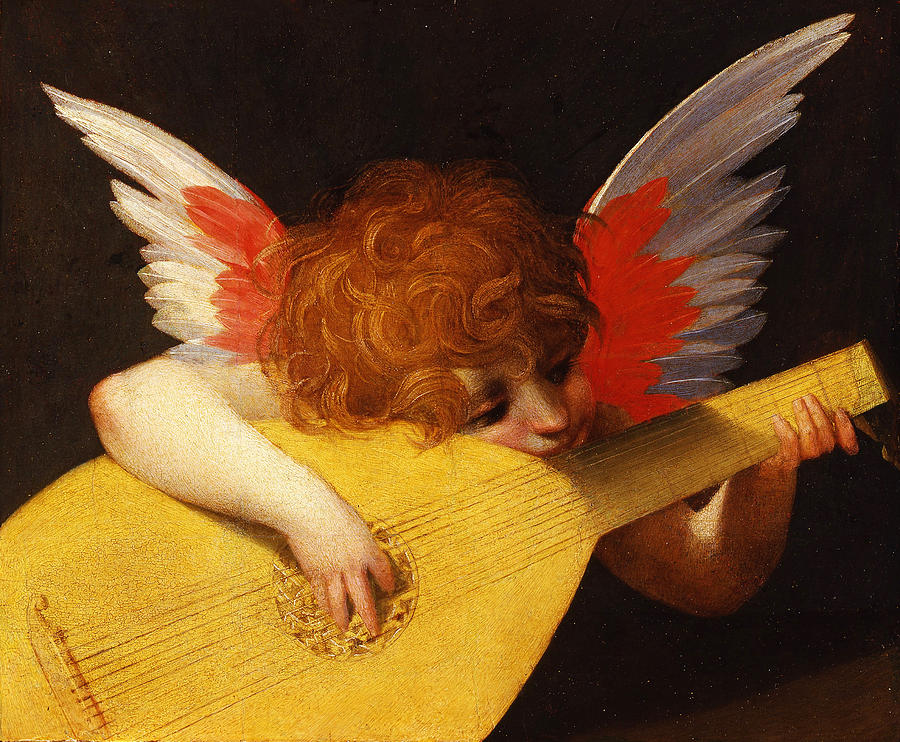Rosso Fiorentino Painting - Musical Angel by Rosso Fiorentino