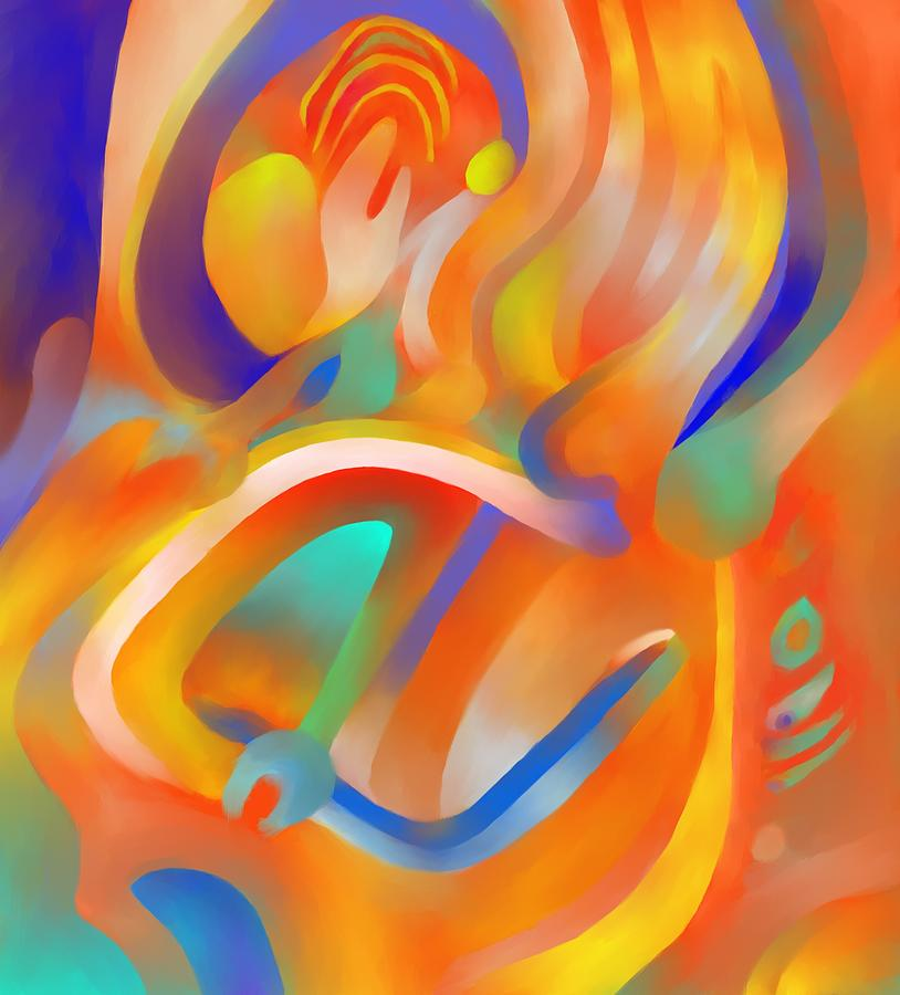 Colorful Digital Art - Musical Enjoyment by Peter Shor