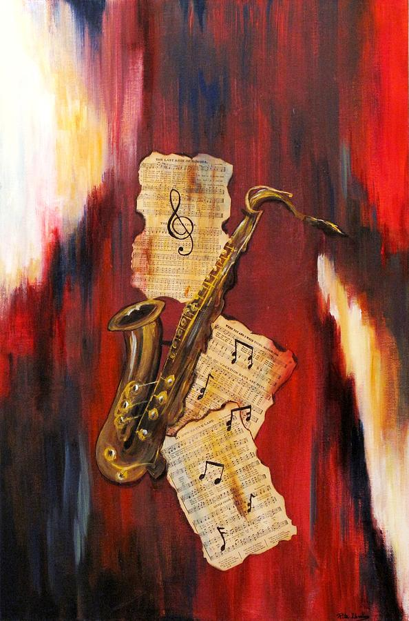 Mixed Media Painting - Musical Heart by Rita  Ibrahim