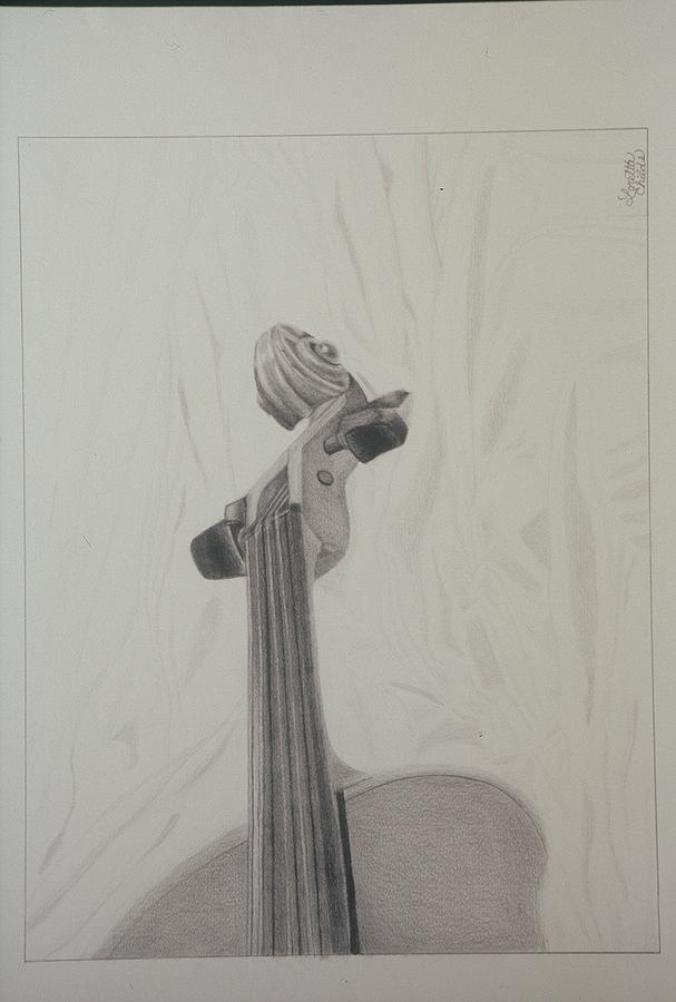 Music Drawing - Musical Instrument by Loretta Childs