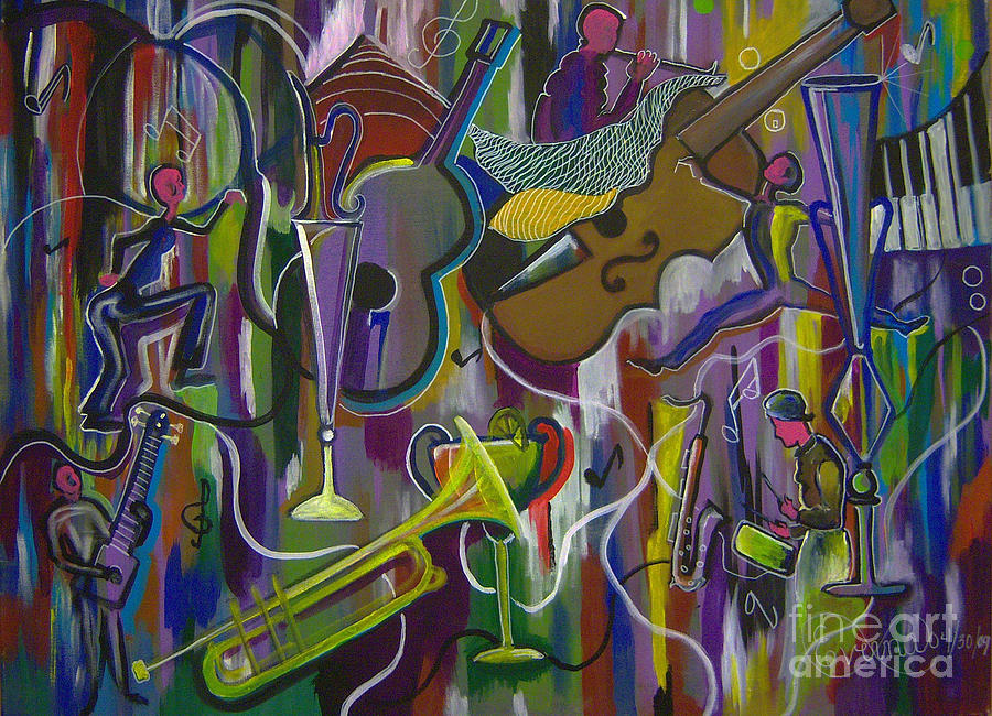 Musical Instruments 2 Painting by Everna Taylor