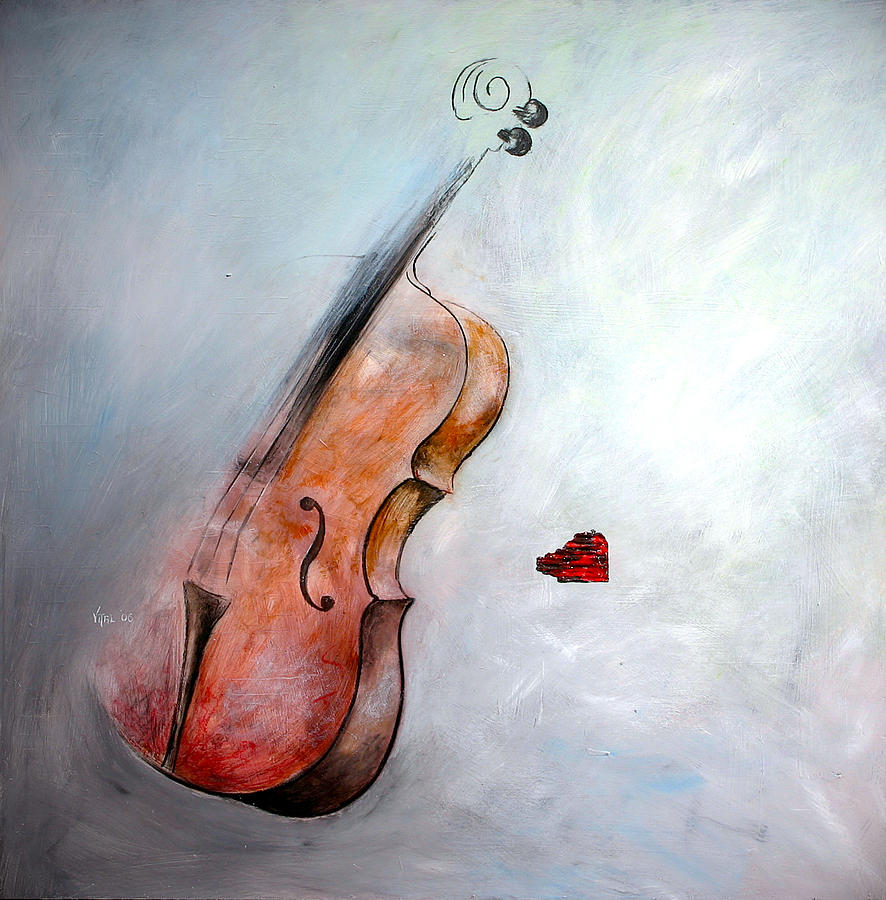 Violins Painting - Musical Message by Germaine Fine Art