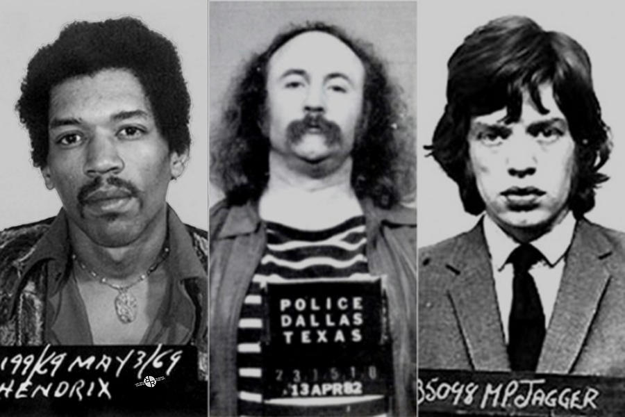 Jimi Hendrix Photograph - Musical Mug Shots Three Legends Very Large Original Photo 1 by Tony Rubino