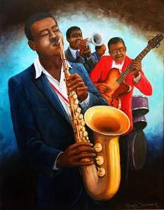 Musicians Painting - Musicans by Romeo Downer
