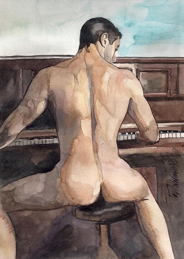 Musician Painting by Yuliya Podlinnova