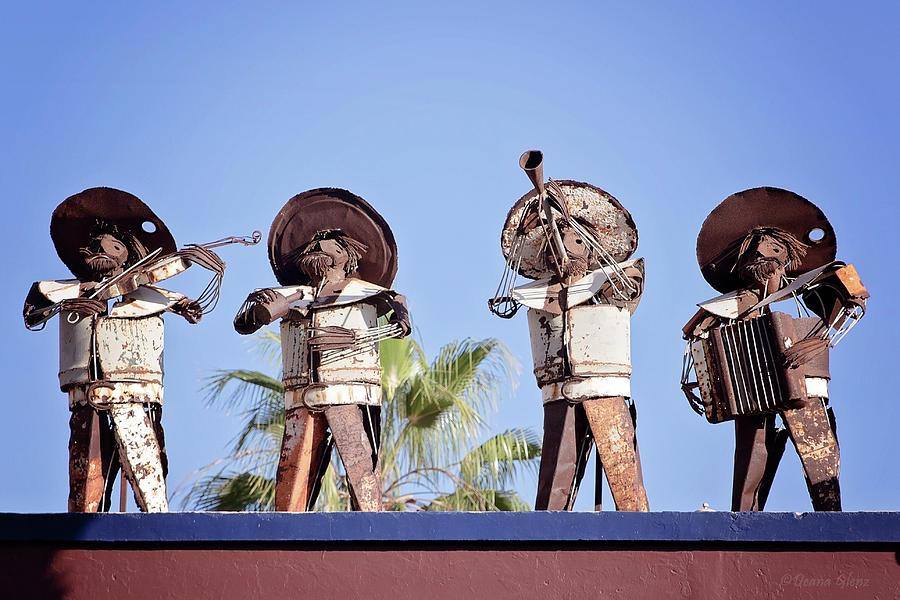 Musicians at the Hotel California Todos Santos MX by Deana Glenz