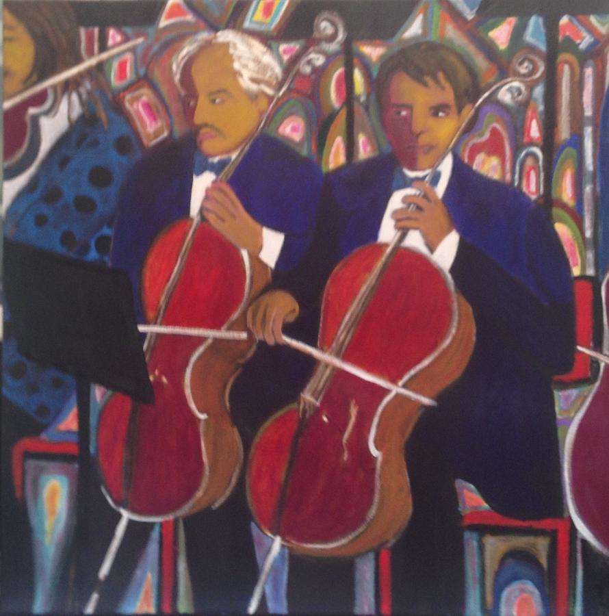Music Painting - Musicians by Fran Steinmark