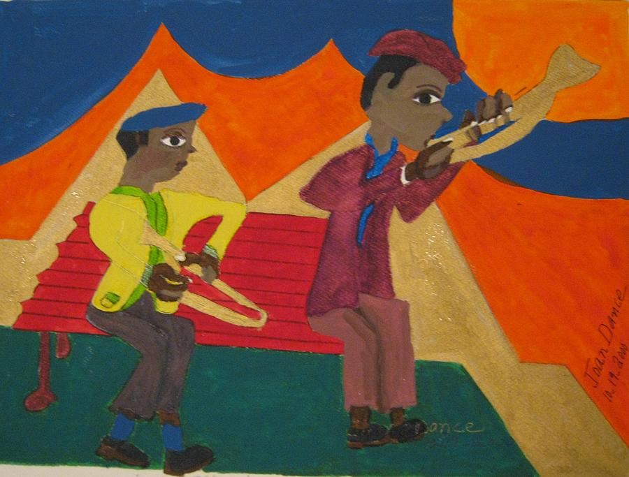 Musicians Painting by Joan Dance