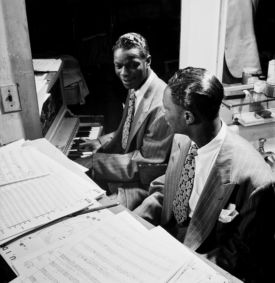 Nat King Cole Photograph - Musics Golden Era - Nat King Cole 1947 by Mountain Dreams