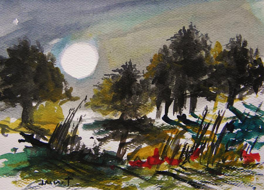 Night Painting - Musing-the Other Night by John Williams