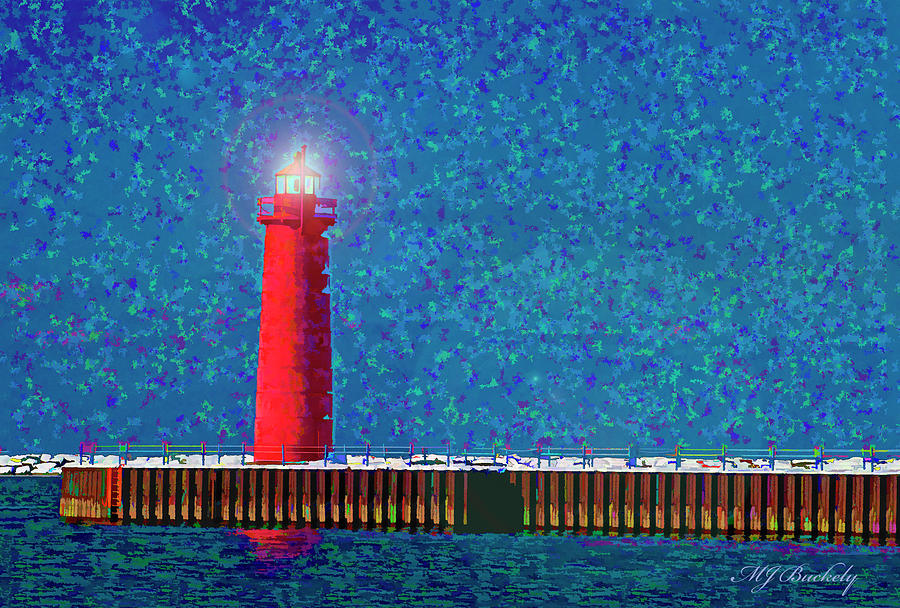 Lighthouse Photograph - Muskegon Lighthouse by Marti Buckely