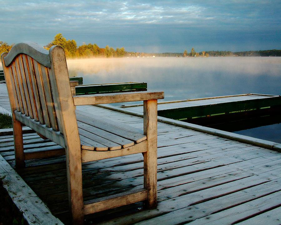 Sunrises Photograph - Muskoka Lake At Sunrise by Linda McRae