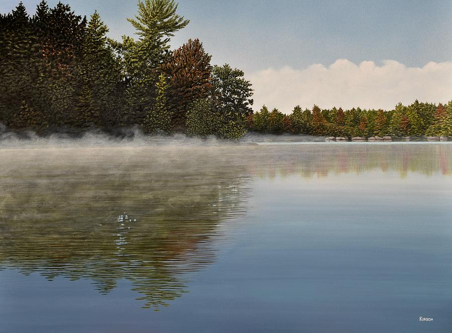 Lakes Painting - Muskoka Morning Mist by Kenneth M  Kirsch