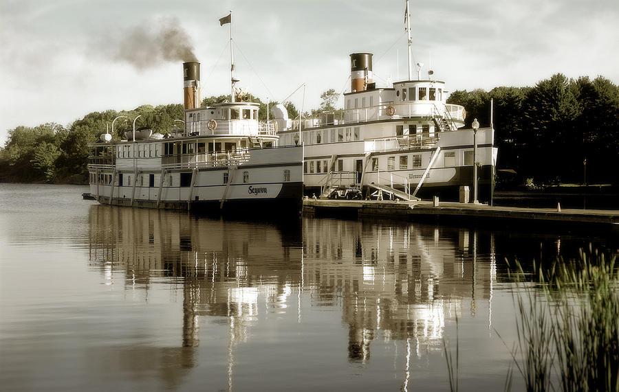 Steamship Photograph - Muskokan Reflection by John Bartosik