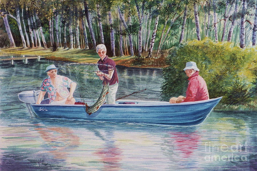 Musky Fish Painting - Musky Madness by Marilyn Smith