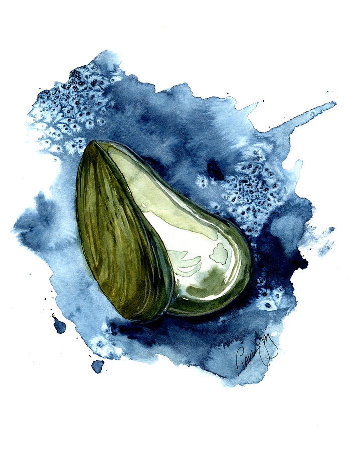 Mussell Painting - Mussel Shell by Paul Gaj