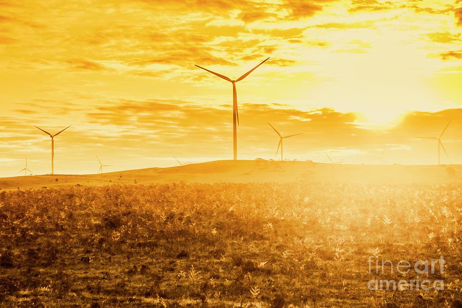 Australia Photograph - Musselroe Wind Farm by Jorgo Photography - Wall Art Gallery