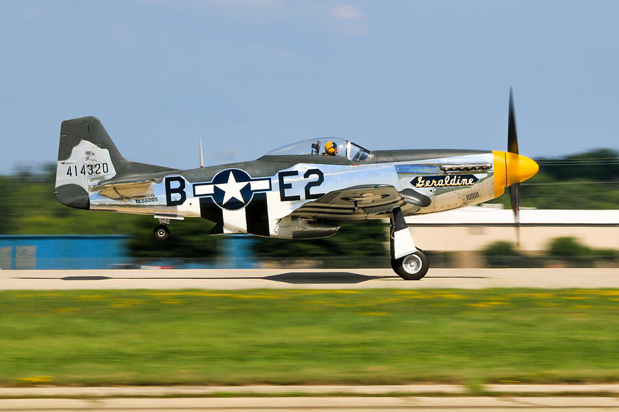 Selective Photograph - Mustang by Aircraft  In Motion
