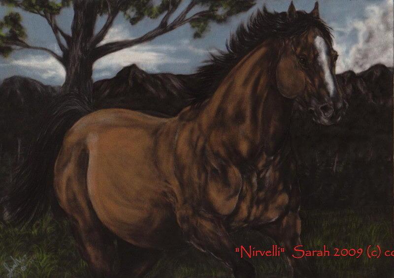 Horse Painting - Mustang by Sarah Whittington