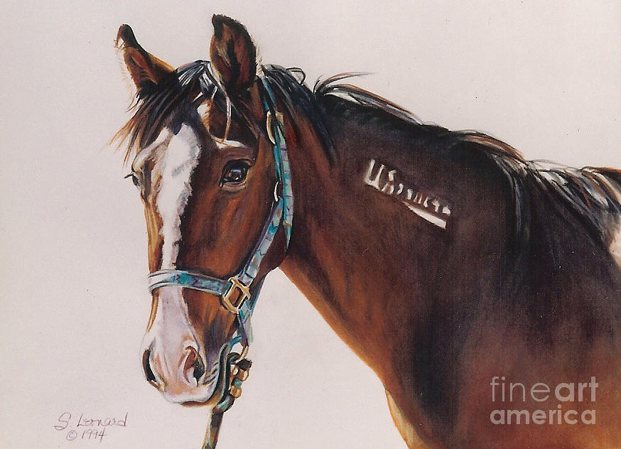 Mustang Painting - Mustang by Suzanne Leonard