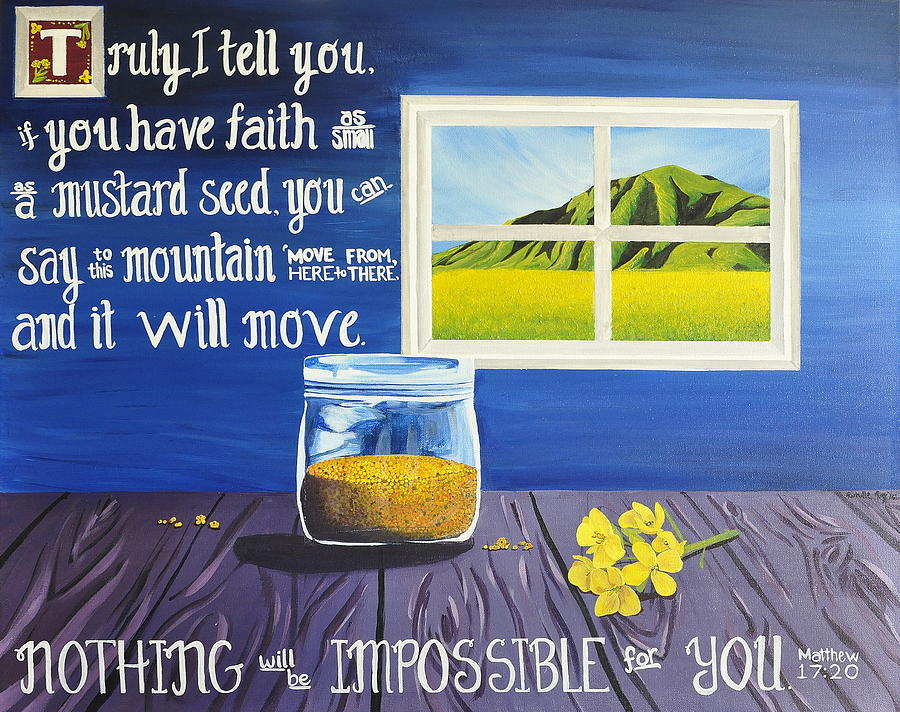Mustard Seed Painting - Mustard Seed by Rechelle Roy