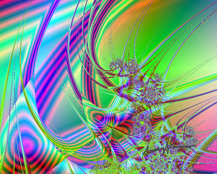 Fractal Digital Art - Mutate by Anthony Caruso