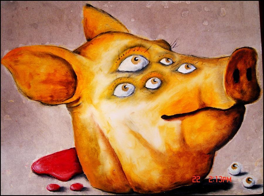 Oil Paint Painting - Mutation by Paulo Zerbato