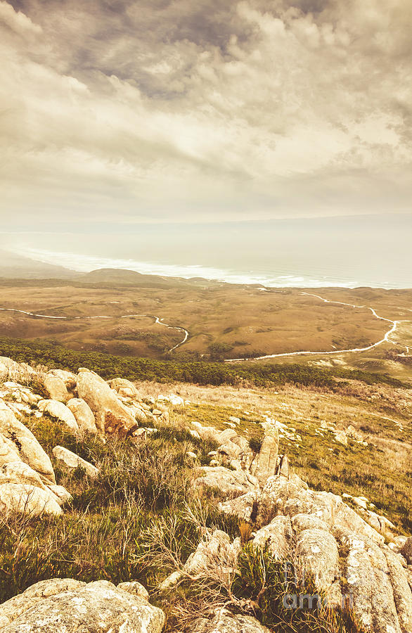Coast Photograph - Muted Mountain Views by Jorgo Photography - Wall Art Gallery
