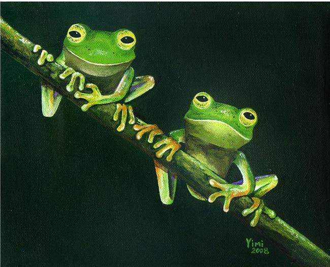 Frogs Painting - Mutt And Jeff by James Parker