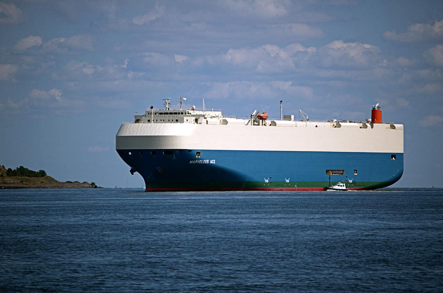 Ship Photograph - Mv Marvelous Ace Inbound Port Of Baltimore by Wayne Higgs