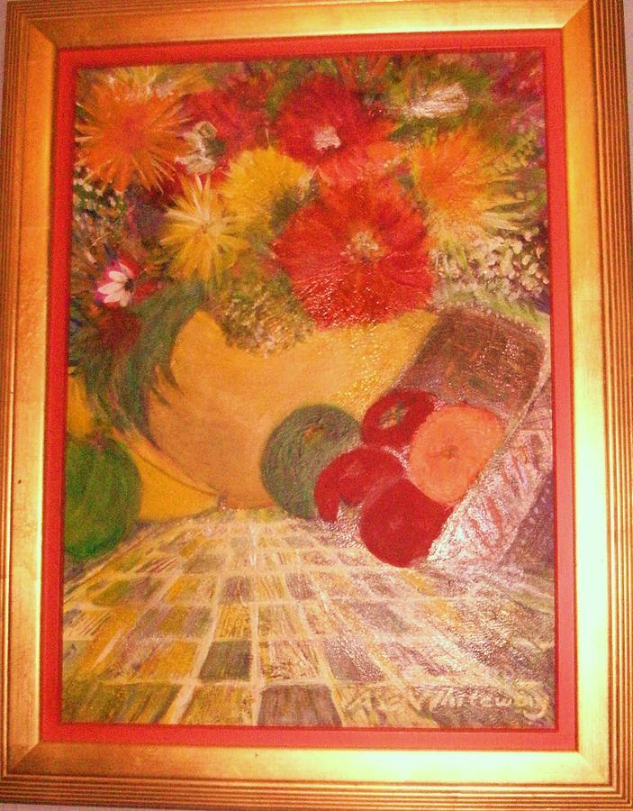 Abundance Painting - My Abundance Painting Framed by Anne-Elizabeth Whiteway
