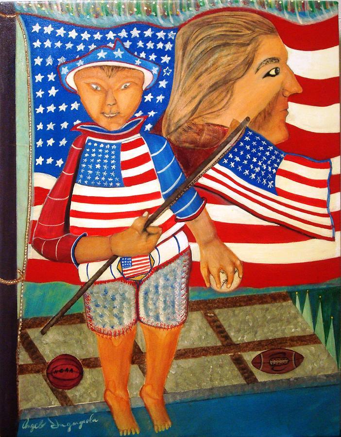 America Painting - My America by Angelo Ingargiola