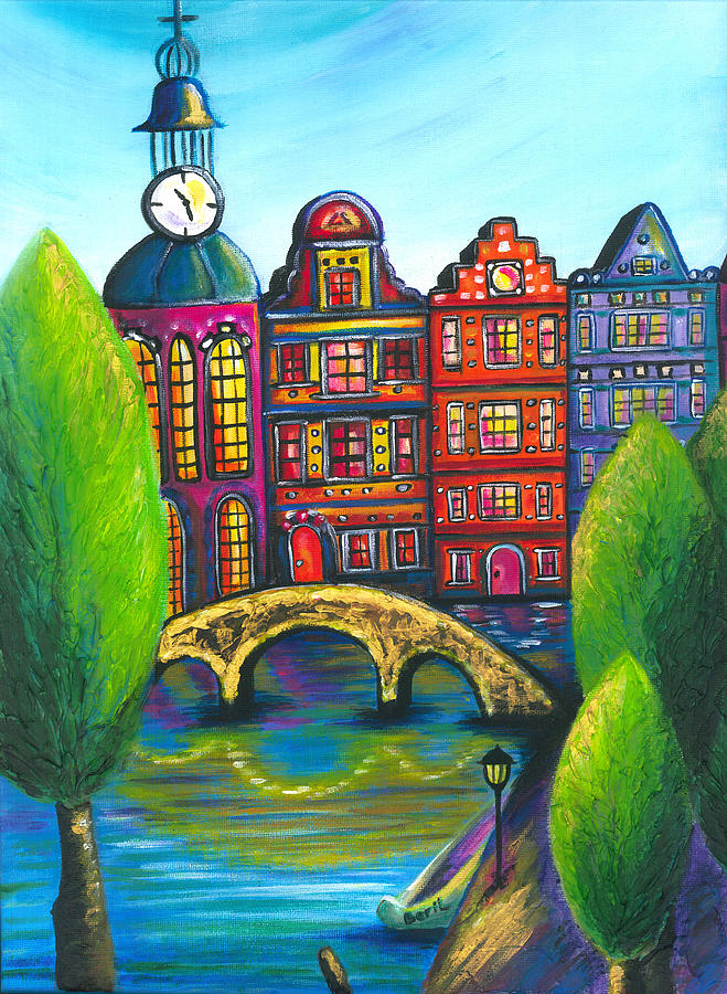 Amsterdam Painting - My Amsterdam by Beryllium Canvas