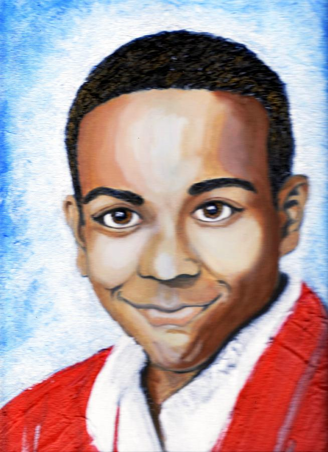Portrait Painting - My Angel Smiles On Me  by Keenya  Woods