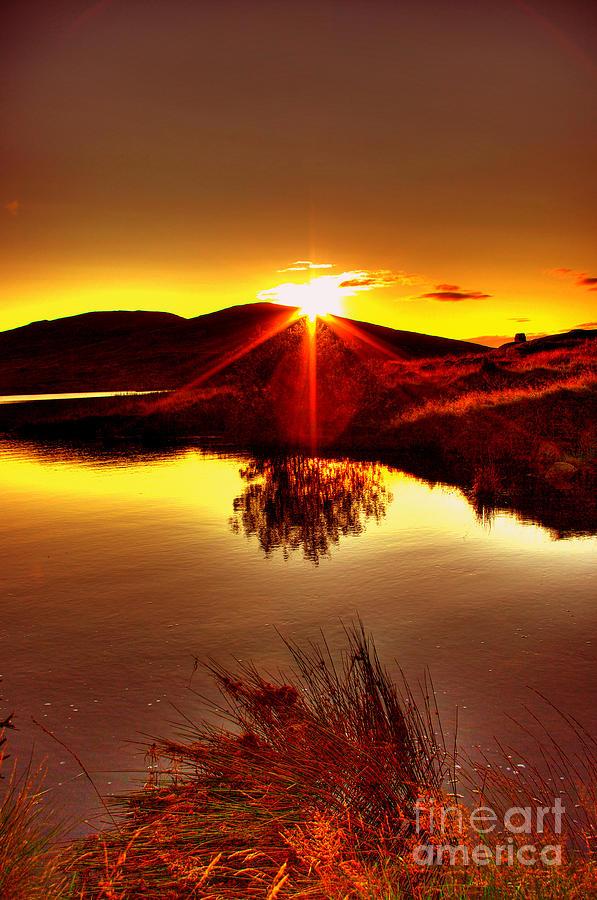 Lake Photograph - My Anniversary Sunset by Kim Shatwell-Irishphotographer