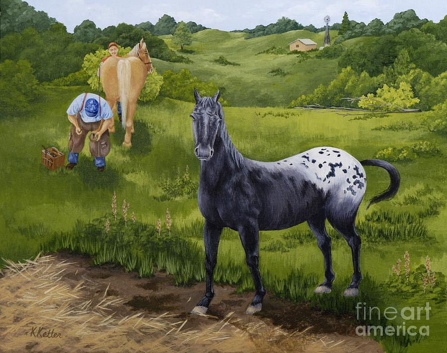 Appaloosa Painting - My Appaloosa by Kathleen Keller