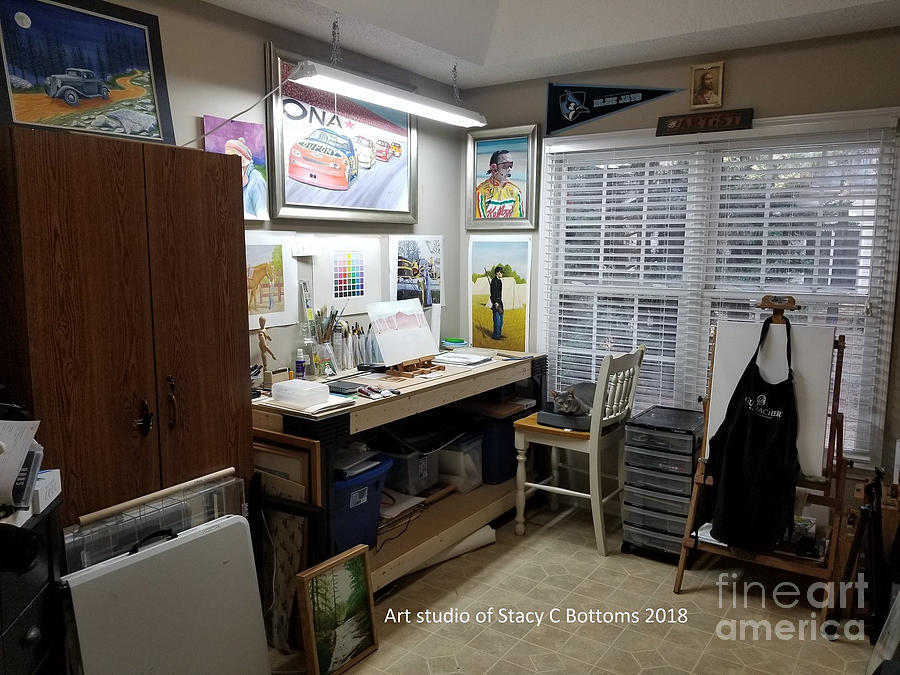 My Art Studio 2018 by Stacy C Bottoms