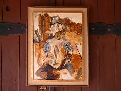 My Aunt Lila On Porch  Painting by Lila Witt Locati