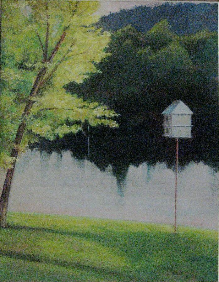 My Backyard Pastel by Cindy Hall