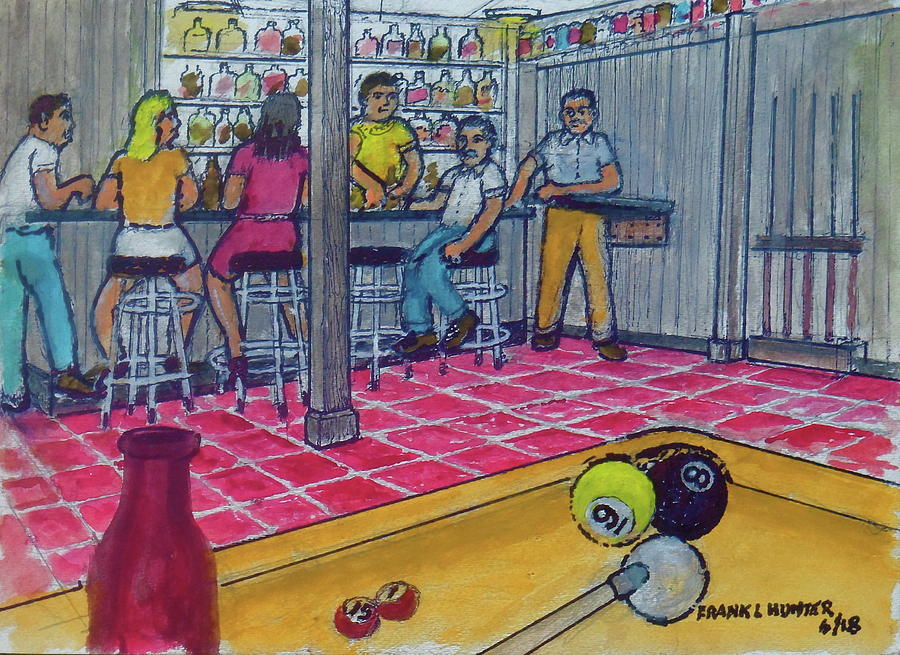 My basement bar pool table Columbus Ohio Overbrook Drive 1976 by Frank Hunter