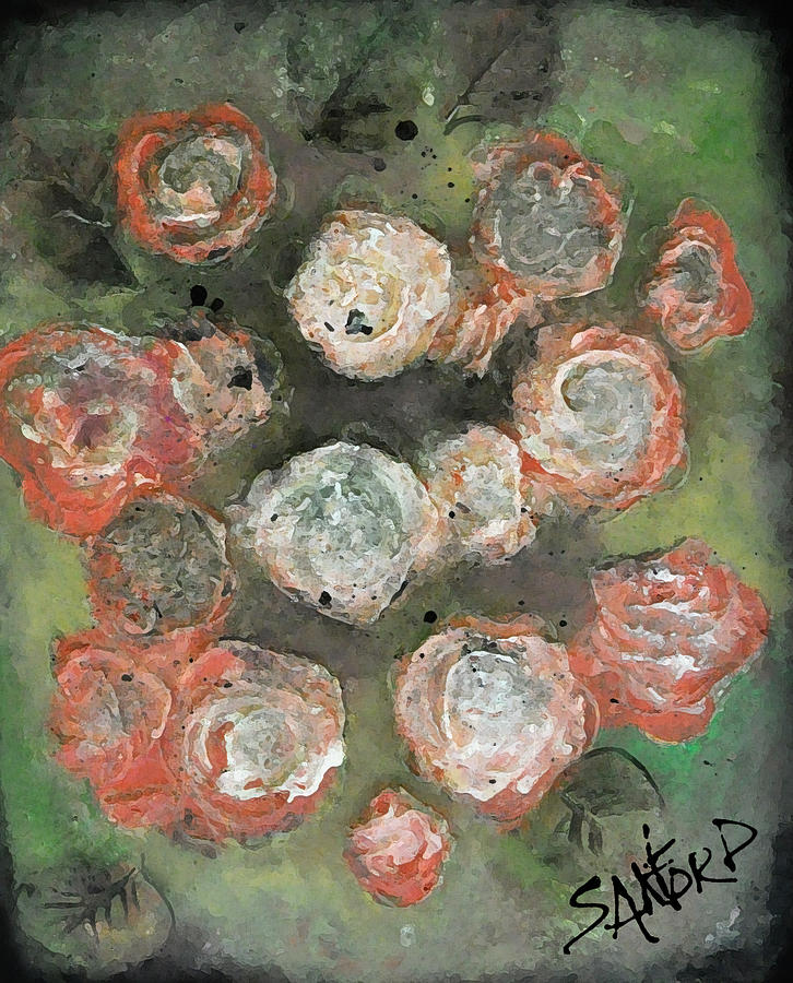 Roses Painting - My Bloomers by Amanda  Sanford