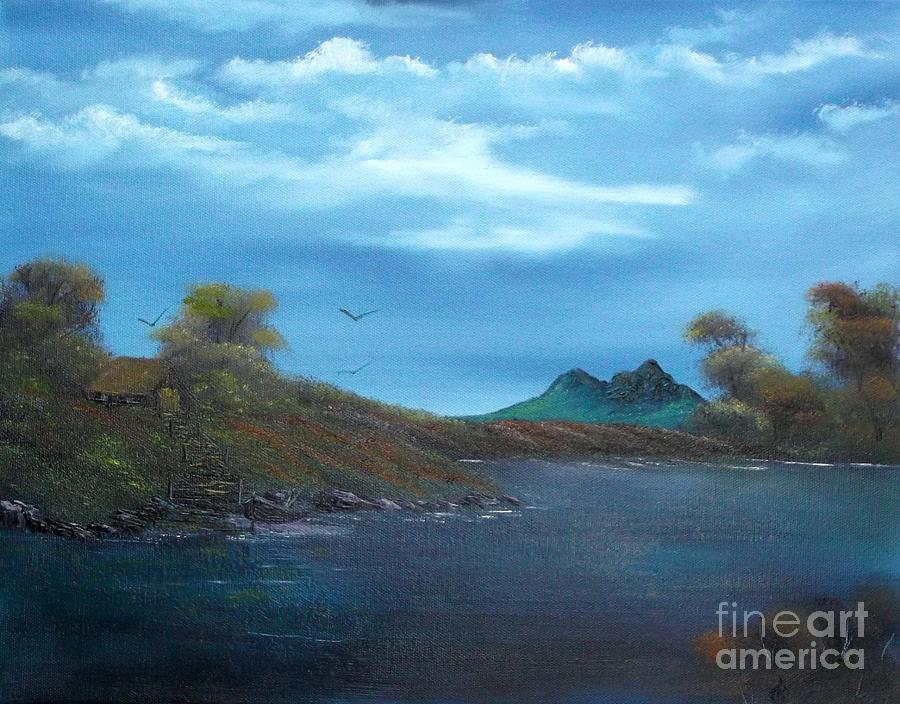 Oil Painting Painting - My Blue Heaven by Cynthia Adams