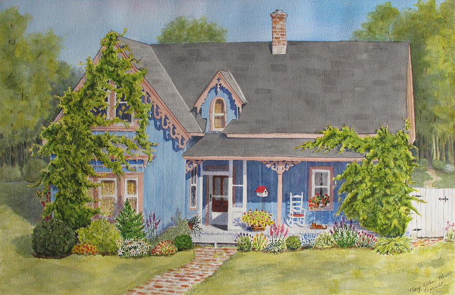 House Painting - My Blue Heaven by Mary Ellen Mueller Legault