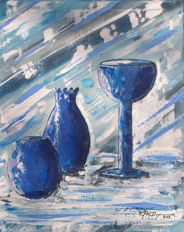 Vases Painting - My Blue Vases by J R Seymour