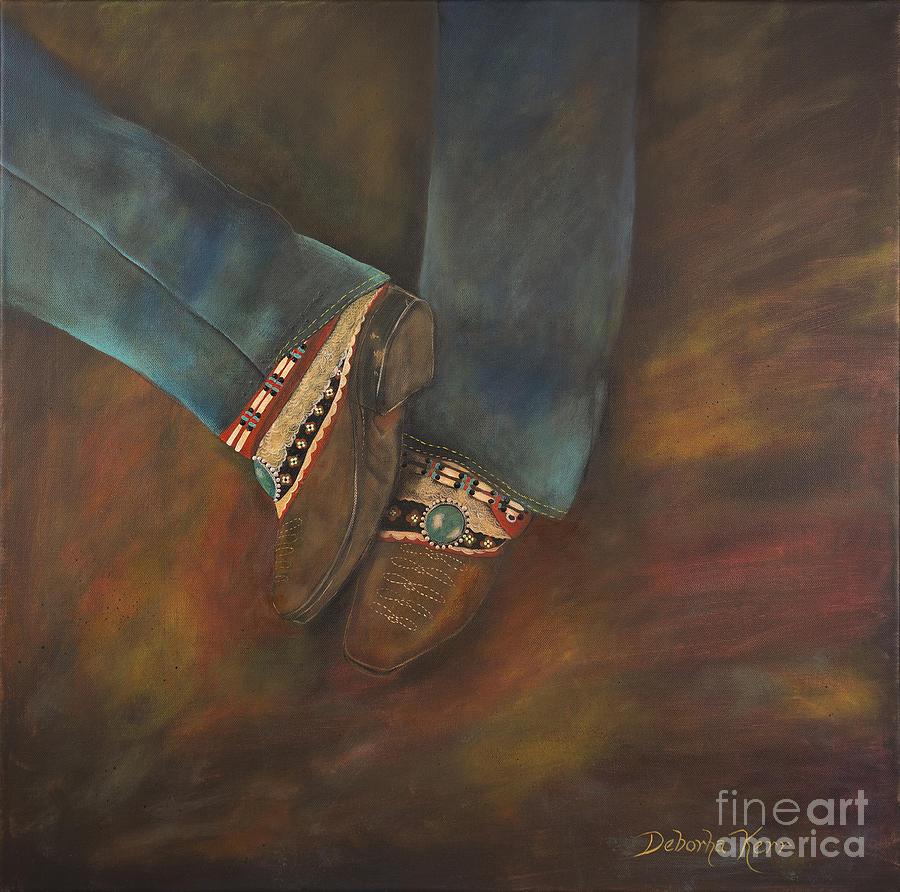Boho Painting - My Boho Boots by Deborha Kerr