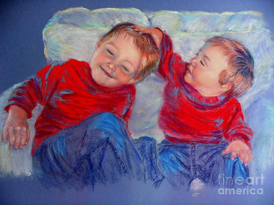 Portrait Painting - My Brother My Friend by Shirley Leswick