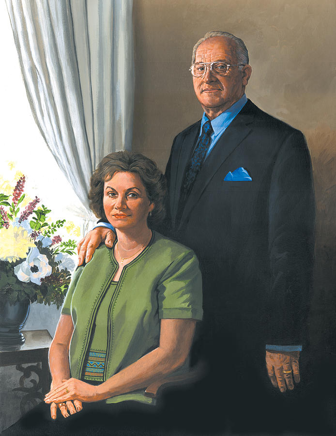 Portrait Painting - My Brother Ronnie and his wife MaryAnn by Harold Shull